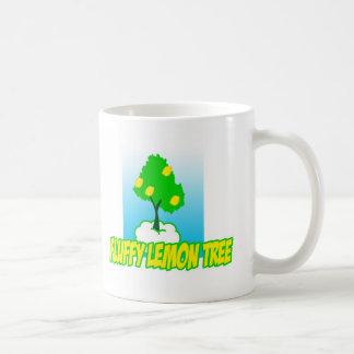 Fluffy Lemon tree-big Basic White Mug