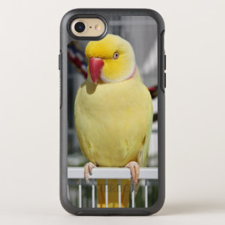 Fluffy Lutino Indian Ringneck Parakeet OtterBox Symmetry iPhone 7 Case