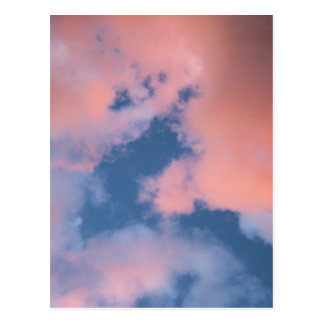 Fluffy Peach Clouds at Sunset Postcard
