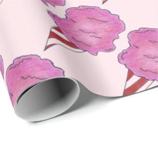 Fluffy Pink Cotton Candy Spun Sugar Carnival Wrap