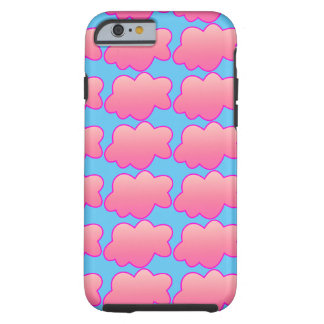 Fluffy pink tough iPhone 6 case
