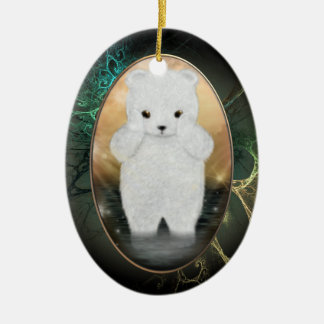 Fluffy Polar Bear Personalized Ornament