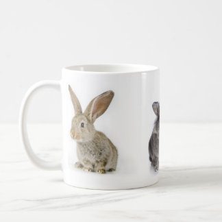 fluffy rabbit coffee mug