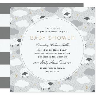 Fluffy Sheep Baby Shower Card