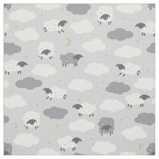 Fluffy Sheep Fabric