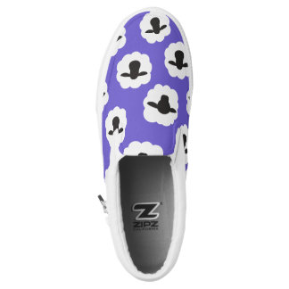 Fluffy Sheep Pattern Purple 2016 Slip-On Shoes