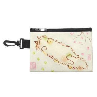 Fluffy Sleepy Cat Plum blossom Accessory Bag