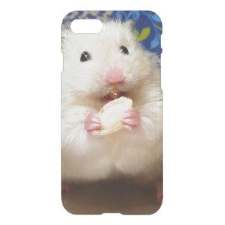 Fluffy syrian hamster Kokolinka eating a seed iPhone 7 Case