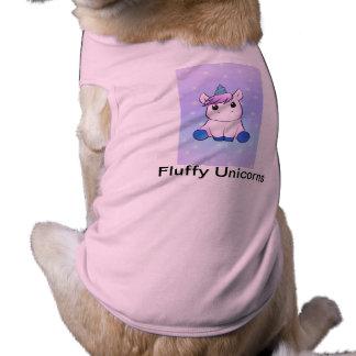 Fluffy unicorns pet wear shirt