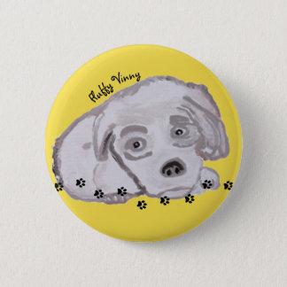 Fluffy Vinny - Round Button