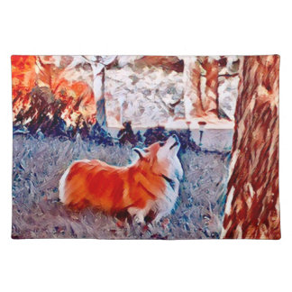 Fluffy Welsh Corgi Placemat