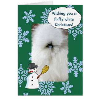 Fluffy White Christmas Note Card
