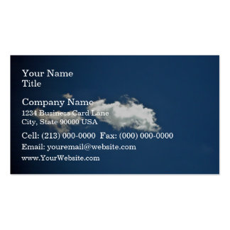 Fluffy white cloud on deep blue sky business card templates