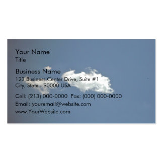 Fluffy white cloud on deep blue sky business cards