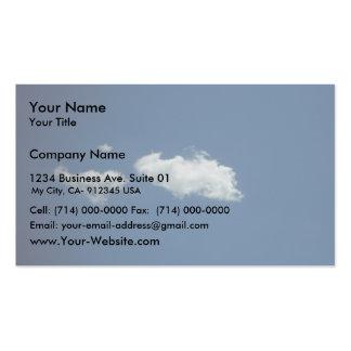 Fluffy White Cloud On Deep Blue Sky On Currambine Business Cards