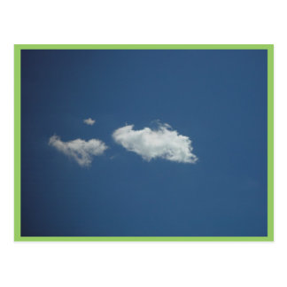 Fluffy White Cloud On Deep Blue Sky On Currambine Postcard