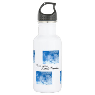 Fluffy White Clouds; Customizable 532 Ml Water Bottle