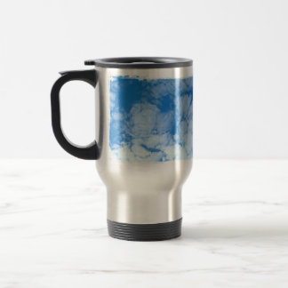 Fluffy White Clouds; Customizable Stainless Steel Travel Mug