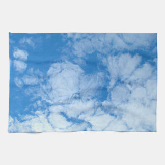 Fluffy White Clouds Hand Towels