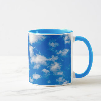 Fluffy White Clouds in a Blue Sky Mug