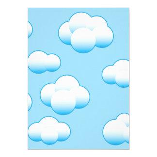Fluffy White Clouds Invitations