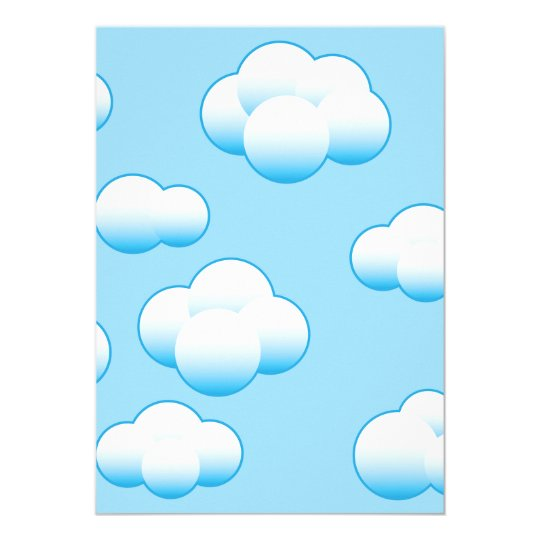 Fluffy White Clouds Invitations