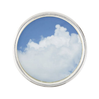Fluffy White Clouds Lapel Pin