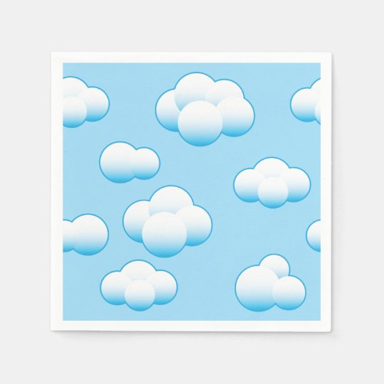 Fluffy White Clouds Paper Napkins