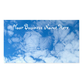 Fluffy White Clouds; Promotional Business Card Templates