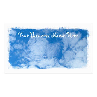 Fluffy White Clouds; Promotional Business Card