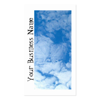 Fluffy White Clouds; Promotional Business Card Template