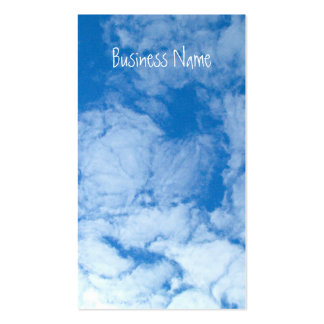 Fluffy White Clouds; Promotional Business Cards