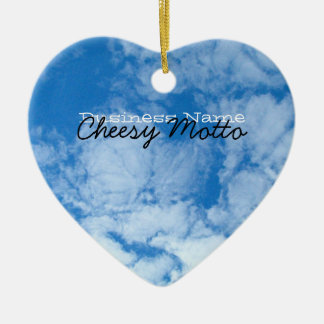 Fluffy White Clouds; Promotional Ceramic Heart Decoration