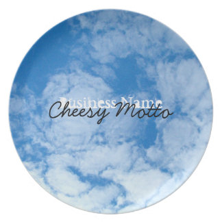 Fluffy White Clouds; Promotional Plates