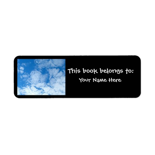 Fluffy White Clouds Return Address Label