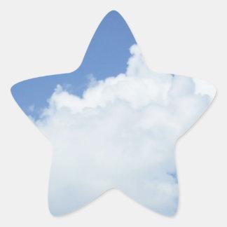 Fluffy White Clouds Star Sticker