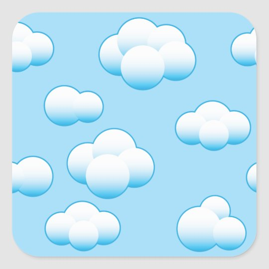 Fluffy White Clouds Stickers