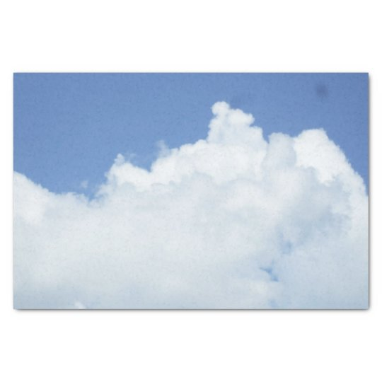 Fluffy White Clouds Tissue Paper