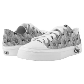 Fluffy White Dandelion Flower Nature Pattern Printed Shoes