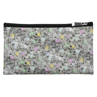 Fluffy White Granite Candy Makeup Bags