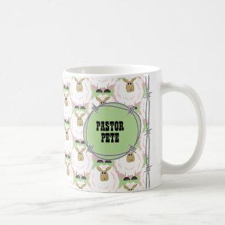 Fluffy White Sheep Pattern Coffee Mug