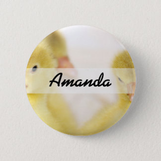 Fluffy Yellow Ducklings 6 Cm Round Badge