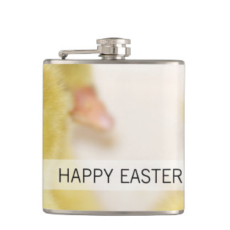 Fluffy Yellow Ducklings Hip Flask