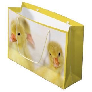 Fluffy Yellow Ducklings Large Gift Bag