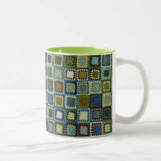 Flufy's Granny Square Blanket 11 oz Two-Tone Mug
