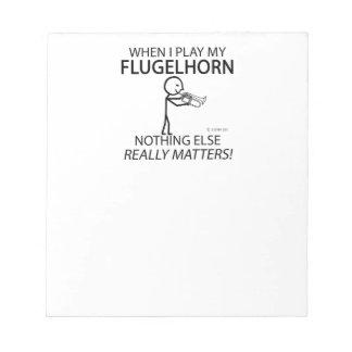 Flugelhorn Nothing Else Matters Note Pad