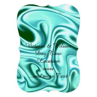 fluid art 01 green custom invitation