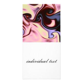 fluid art 05 pink photo card