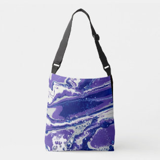 Fluid Art Design on an Over the Shoulder Bag