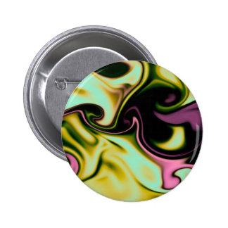 fluid art yellow pinback button
